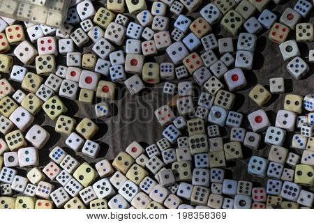 Many Dice On A Table