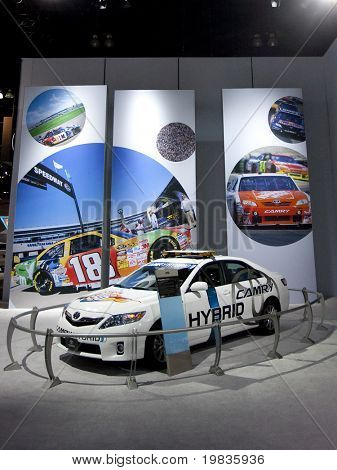 LOS ANGELES, CA. - DECEMBER 3: Toyota Camry Hybrid on display at the 2009 Los Angeles Auto Show at L.A. Convention Center on December 3, 2009 in Los Angeles