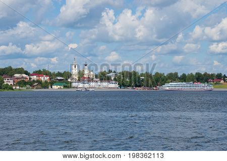 MYSHKIN, RUSSIA - JULY 13, 2016: Cruise ship