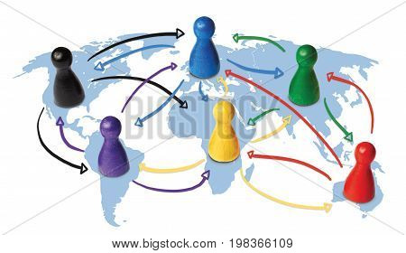 Concept for globalization, global networking, travel or global connection or transportation.