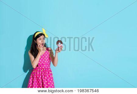 Pretty Attractive Woman Wearing Cute Dress