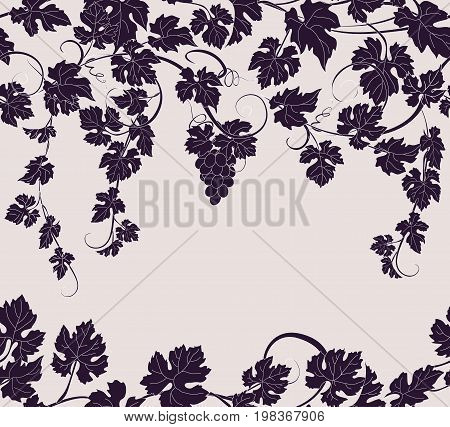 Vector seamless pattern background with vines in vintage style. Can be used for labels, invitations, greetings, posters, leaflets.