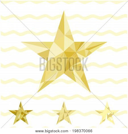 Gold Star Vector Background