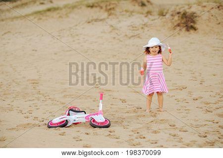 Girl In Desert.