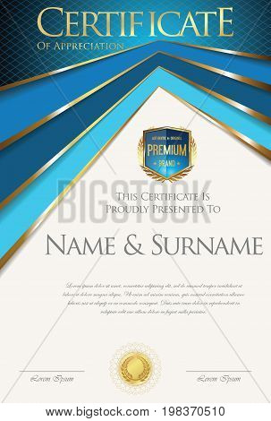 Colorful Retro Design Certificate Or Diploma Template 2.eps