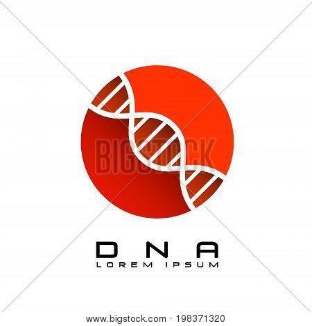dna red sign logo emblem icon. vector illustration