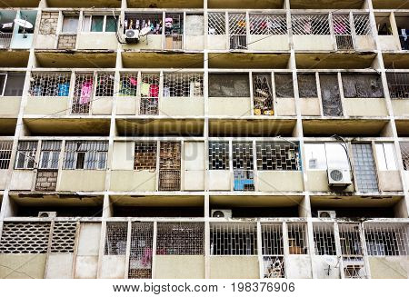 Apartment exterion building view in Maputo, Mozambique