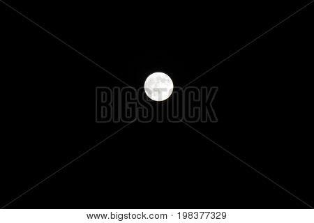Single shoot full moon dark sky photo