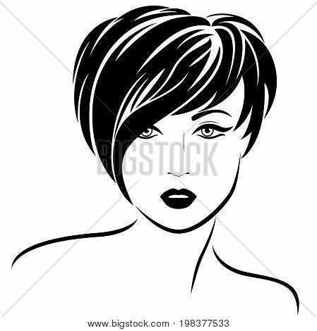 Fashion Girl With Short Stylish Hair