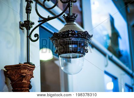 vintage lamp decorative in home, lamp in modern style, warm tone light, lamps in coffee shop