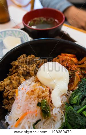 delicious and famous Japanese food in the restaurant in Japan