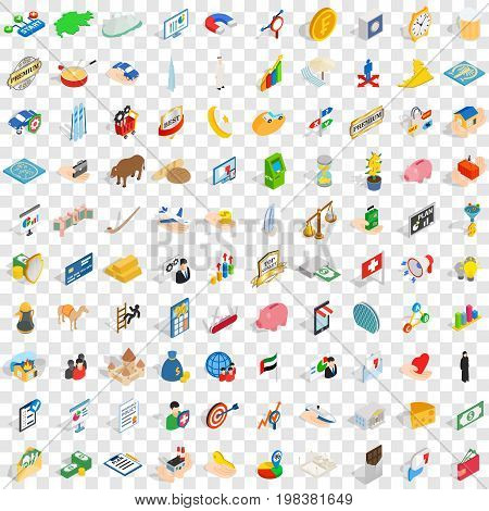 100 piggybank icons set in isometric 3d style for any design vector illustration