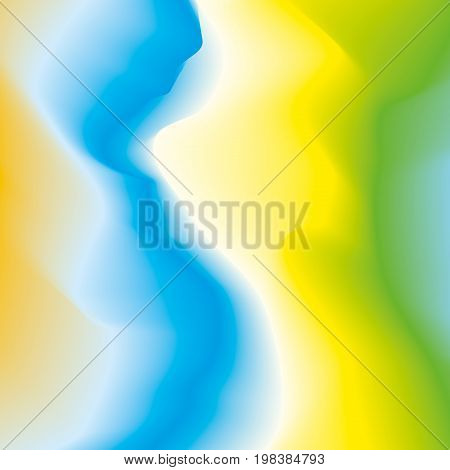Abstract color waves background, blured colorful gradient, smooth pattern for you presentation, vector design wallpaper