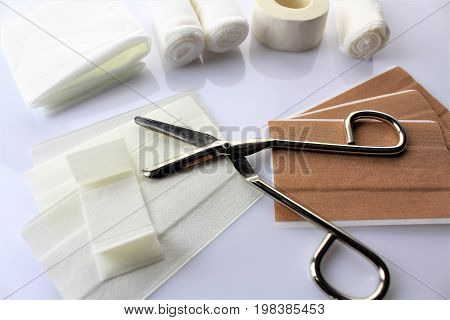 An image of wound material, Bandage - first-aid