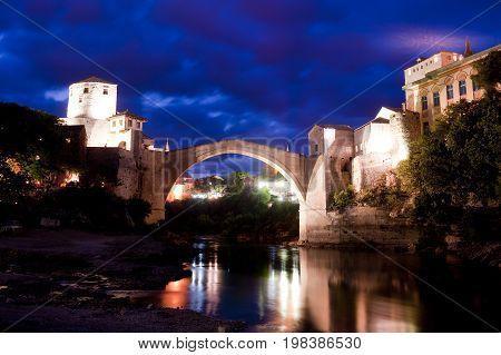 Old bridge in Mostar, Bosnia and Herzegovina, Europe
