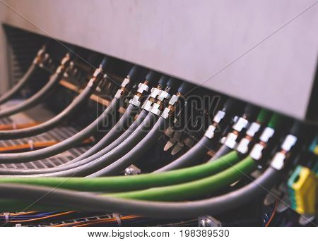 PLC Cables Wiring in Control Panel System