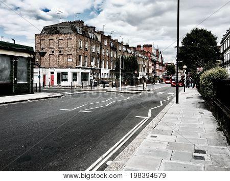 Road In London Town