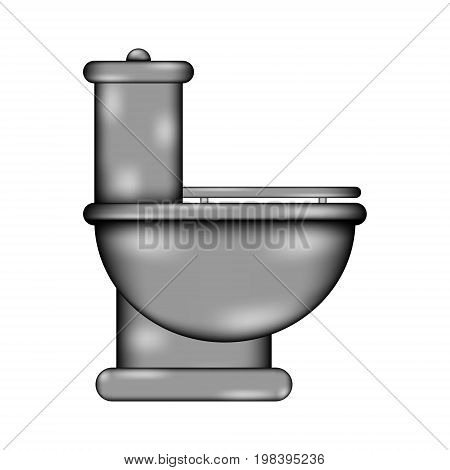 Toilet sign icon on white background. Vector illustration.