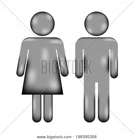 Male and Female sign icon on white background. Vector illustration.