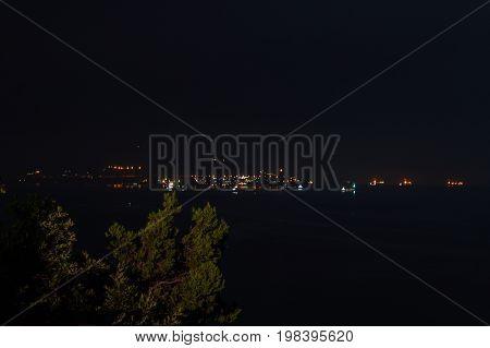Night russian romantic sea scape sky horizon