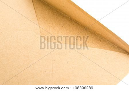 close up of Brown craft envelope for mailing