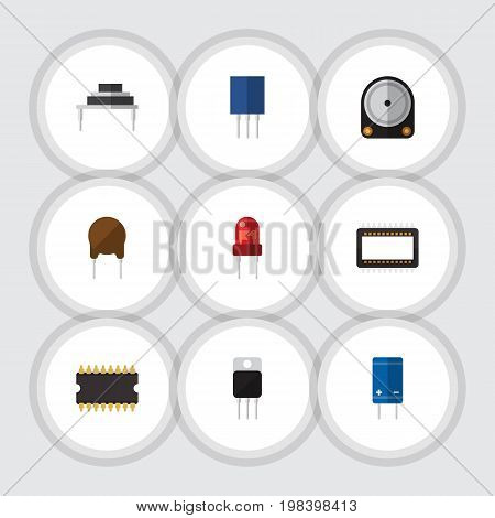 Flat Icon Electronics Set Of Recipient, Receptacle, Destination And Other Vector Objects