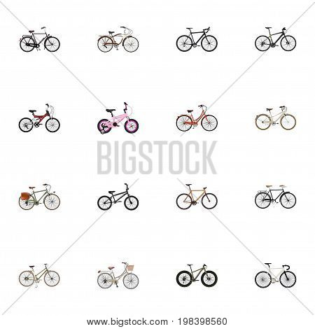 Realistic Training Vehicle, Fashionable, Cyclocross Drive And Other Vector Elements