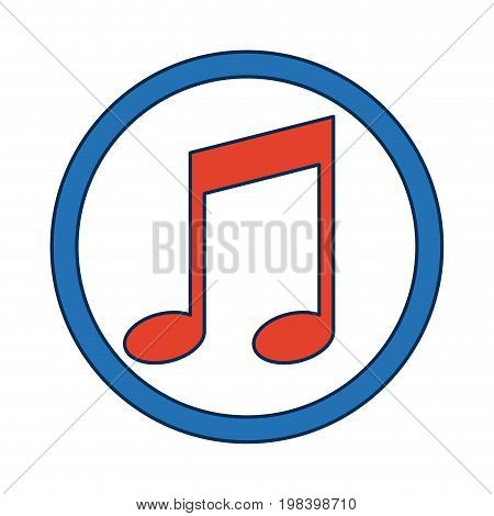 note music melody sound button web icon vector illustration