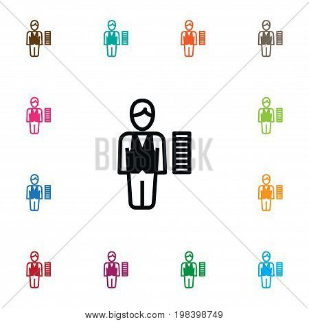 Staff   Vector Element Can Be Used For Staff, Broker, Croupier Design Concept.  Isolated Broker Icon.