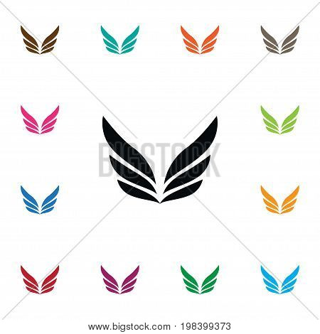 Angel Vector Element Can Be Used For Angel, Wings, Freedom Design Concept.  Isolated Freedom Icon.