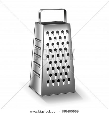 Grater isolated on white photo-realistic vector illustration