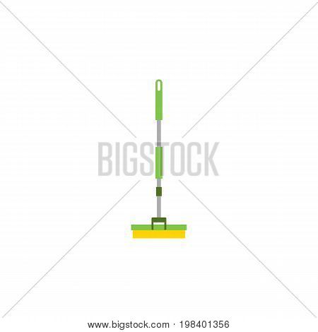 Equipment Vector Element Can Be Used For Broom, Sweeper, Mop Design Concept.  Isolated Broom Flat Icon.