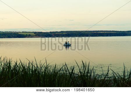 Fishing Boat On The River.