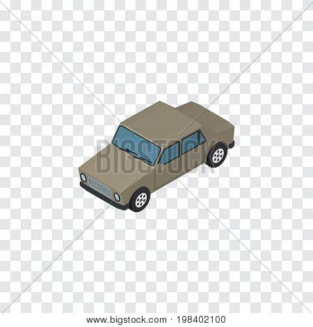 Auto  Vector Element Can Be Used For Car, Auto, Sedan Design Concept.  Isolated Car Isometric.