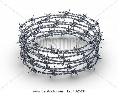 Barbed Wire Wreath 3D Illustration