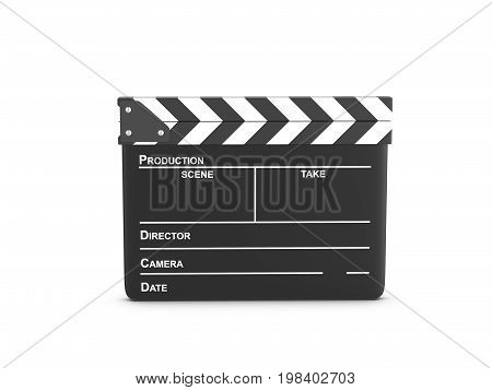 Clapper Board 3D Illustration