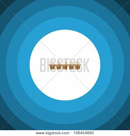 Eggshell Box Vector Element Can Be Used For Egg, Eggshell, Box Design Concept.  Isolated Egg Flat Icon.