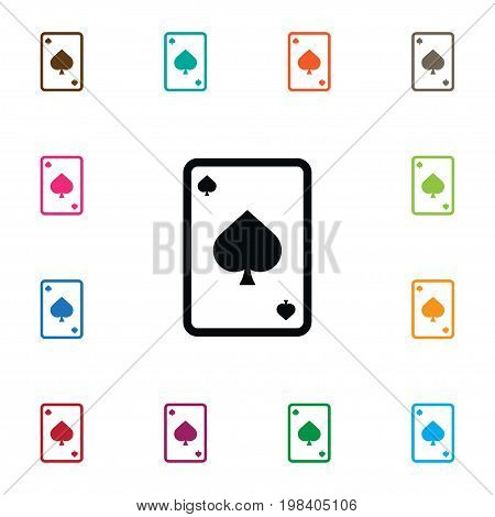 Spades Vector Element Can Be Used For Ace, Spades, Cards Design Concept.  Isolated Ace Icon.