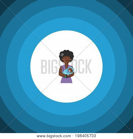 Mam Vector Element Can Be Used For Mam, Baby, Mother Design Concept.  Isolated Baby Flat Icon.