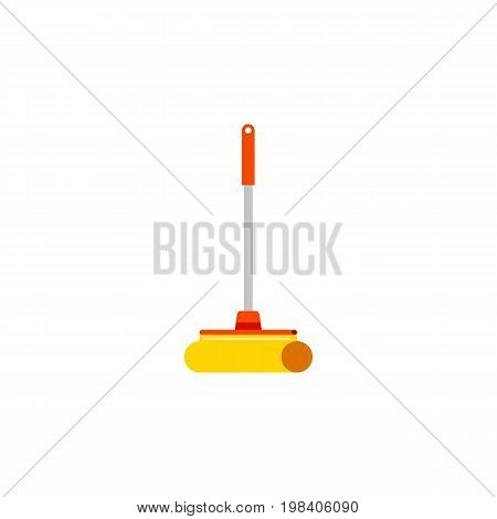 Cleaner Vector Element Can Be Used For Sweep, Cleaner, Mop Design Concept.  Isolated Sweep Flat Icon.