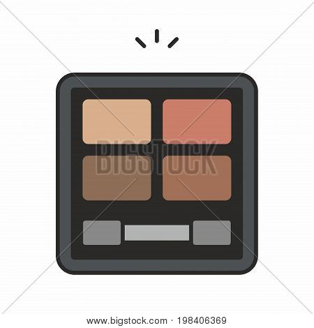 Face powder line icon on white background. Vector illustration.