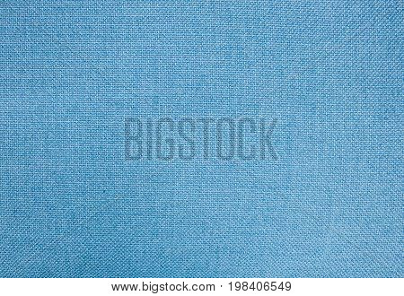 Textile Texture Close Up of Blue Cotton Fabric Pattern Background in Pastel Colors Tone.