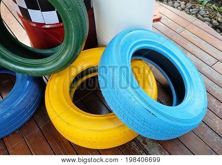 Automotive Safety Concepts Painted Tires with Traffic Barrels Are Control Devices Used to Channel Motor Vehicle Traffic.