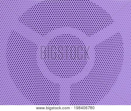 Background Pattern Horizontal Texture of Purple Metallic Perforated Grid with Copy Space for Text Decorated.