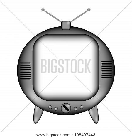 TV sign icon on white background - vector illustration.