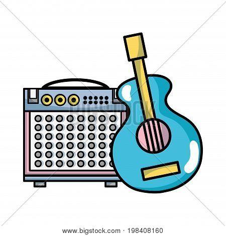 music elements to play harmony rhythm vector illustration