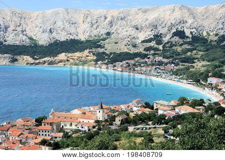 view while hiking in Baska, island Krk in Croatia