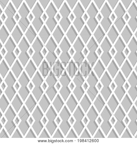Seamless Rhombuses Pattern On A Gray Background