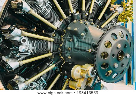 Engine Aircraft Industry Construction Without Protective Covers