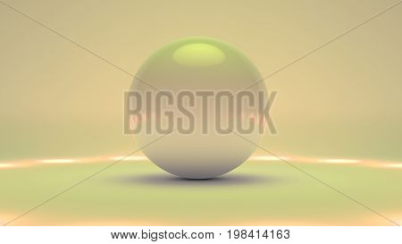 Big white glass sphere with transparent glares and highlights on gray background. white pearl.gradients effects. Abstract texture for your design and business
